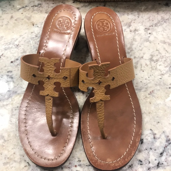 211b75f6ca1c0f Tory Burch Shoes - Tory Burch Moore Leather Thong Block Heel Sandal